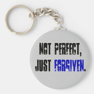 Not Perfect Just Forgiven Christian KeyChain