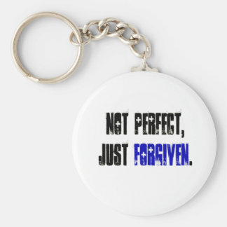 Not Perfect Just Forgiven Men's Basic Round Button Key Ring