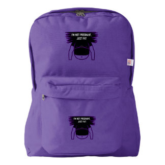 Not pregnant, just fat backpack