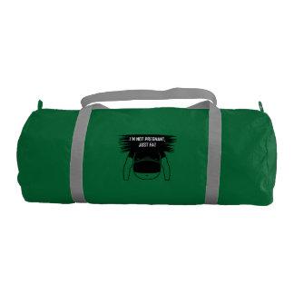 Not pregnant, just fat gym duffel bag
