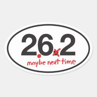 Not Quite a Marathon Oval Sticker