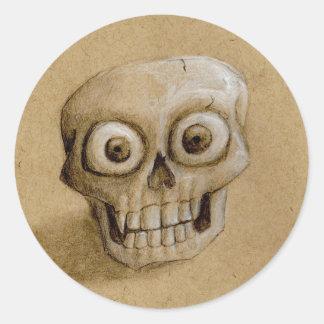 Not Quite Dead Skull Sticker
