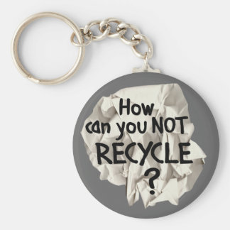 Not Recycle Keychains