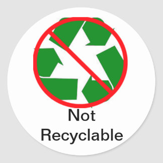 (Not) Recyling Labling Sticker