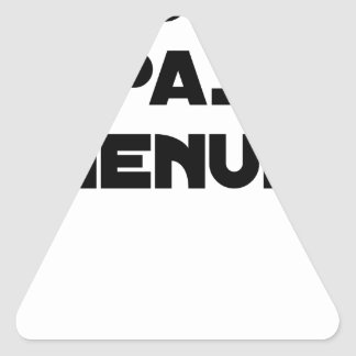 Not reduced carpenter - Word games Triangle Sticker
