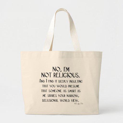 Not Religious Canvas Bag