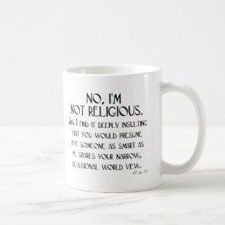 Not Religious Basic White Mug
