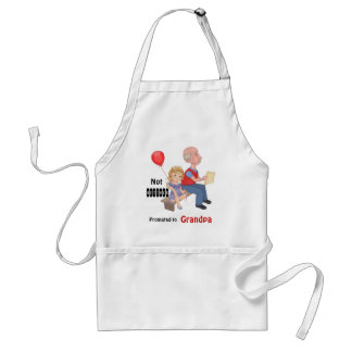 Not Retired Promoted Grandpa Standard Apron
