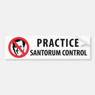 Not Rick Santorum in 2012 Bumper Sticker