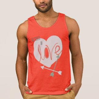 Not Scare of Love Heart Arrows Funky Tank Top