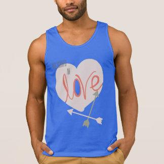 Not Scared of Love Heart Arrows Funky Tank Top