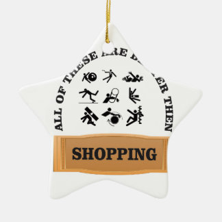 not shopping is bad ceramic ornament