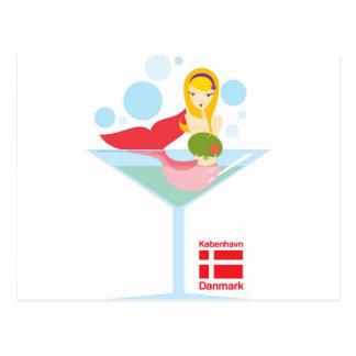not so little mermaid postcard