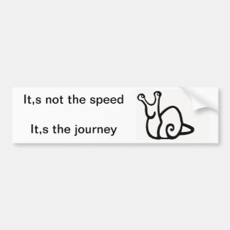 not speed, journey bumper sticker