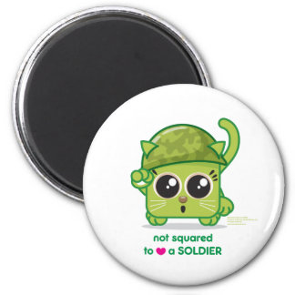 Not Squared to LOVE a Soldier 6 Cm Round Magnet