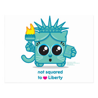 Not Squared to LOVE Liberty Postcard