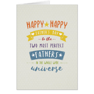 Not Straight Design Happy Father's Day Card