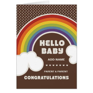Not Straight Design Hello Baby Card