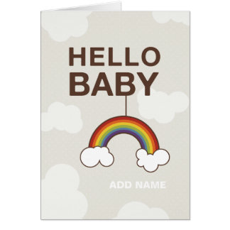 Not Straight Design - Hello Baby card