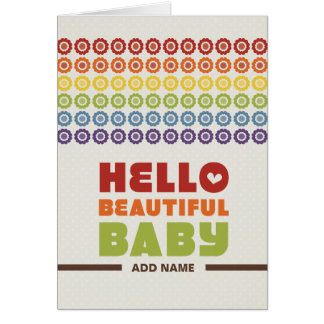 Not Straight Design - Hello Beautiful Baby card