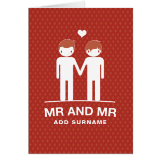 Not Straight Design Mr & Mr Card