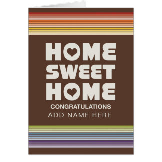 Not Straight Design - New Sweet Home Card