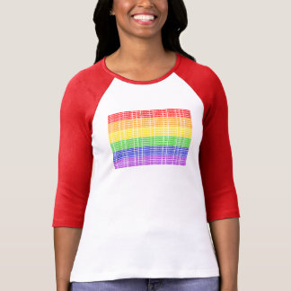"""Not Straight"" Gay Flag T-Shirt"