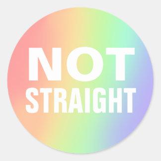 not straight round sticker