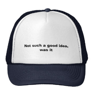Not such a good idea, was it T-Shirts Brilliant Mesh Hat