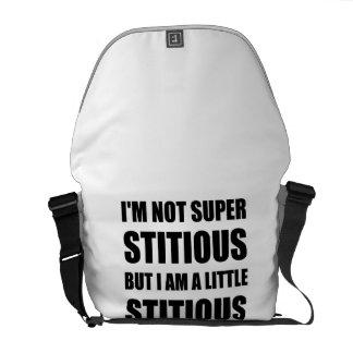 Not Superstitious But Little Stitious Messenger Bag