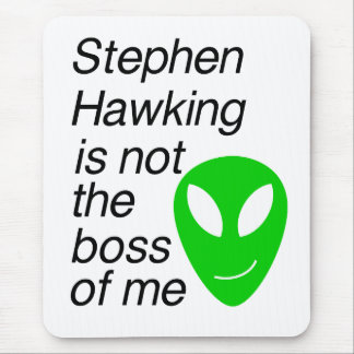 Not the boss of me mouse pad