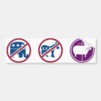 Not the Elephant or the Donkey, but the Lamb Bumper Sticker