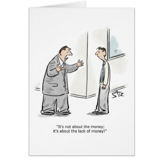 Not the money greeting card
