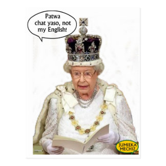 Not the Queen's English Postcard