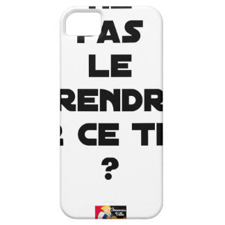NOT TO TAKE IT ON THIS TUNA? - Word games iPhone 5 Cases