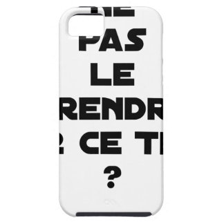 NOT TO TAKE IT ON THIS TUNA? - Word games iPhone 5 Cover