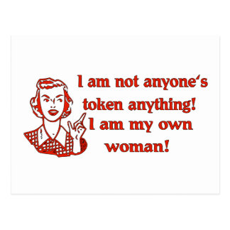Not Token Woman Postcard
