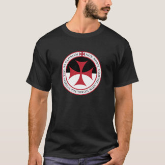 Not Unto Us, O Lord - Templar Cross and Motto T-Shirt