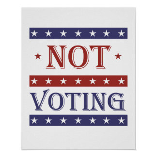 NOT VOTING IN 2016 - -  POSTER
