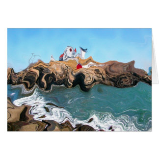 Not Your Normal Nubble Lighthouse Greeting Card w/