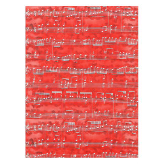 Nota Bene (red and white) Tablecloth