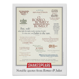 Notable quotes from Romeo and Juliet Poster