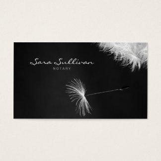 Notary Business Card Dandelion Closeup