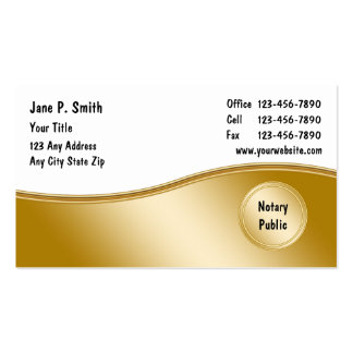 Notary Business Cards_2 Pack Of Standard Business Cards