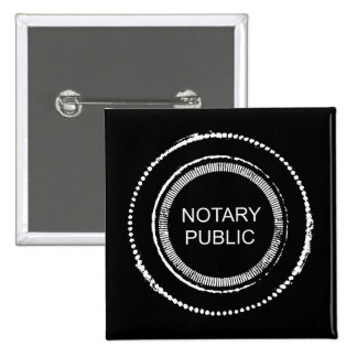 Notary Public Seal 2 Inch Square Button