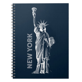 Note book. Liberty, Statue of Liberty, New York, Notebook