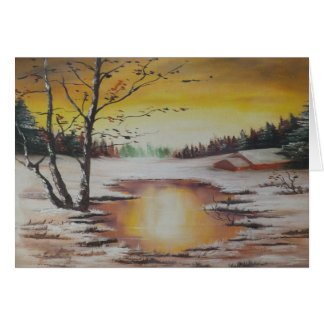 Note Card Ann Hayes Painting Winter Scene