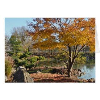 Note Card – Blank, Japanese Garden Autumn