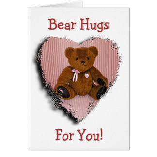 Note Card: Breast Cancer Awareness Bear Card