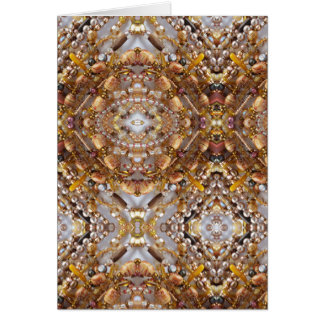 Note Card- Earth Tones Bead Print Card